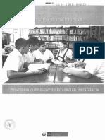PROGRAMA CURRICULAR DE EDUCACIÓN SECUNDARIA 2017 (I parte)