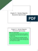 Chem127 Chapter IV Nmr