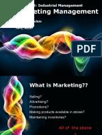 HUM 3109 Marketing Management