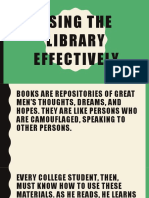 Using the Library Effectively