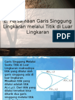 Powerpoint Matematika Persamaan garis singgung lingkaran melalui titik diluar lingkaran