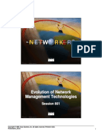Evolution of Network Management Technologies