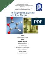 Proyecto Producción Anhídrido Maleico