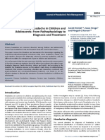 15494 Primary Headache in Children and Adolescents From Pathophysiology to Diagnosis and Treatment