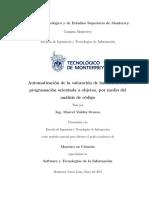 Automatización de la valoración de habilidades de programación orientada a objetos, por medio del análisis de código