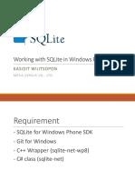 SQLite in Windows Phone 8