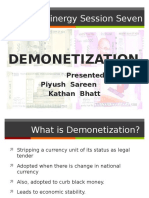 Demonetization