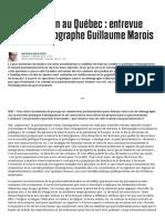 L'Immigration Au Québec _ Entrevue Avec Le Démographe Guillaume Marois _ JDM