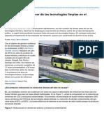 Qué Podemos Esperar de Las Tecnologías Limpias en El Transporte Público