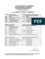 Equivalence Table for v Semester B.tech Mechanical Engg. and Production Industrial Engg. and Automobile Engg.
