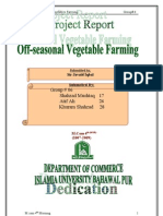 Off Seasonal Vegetable Farming