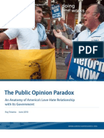 The Public Opinion Paradox
