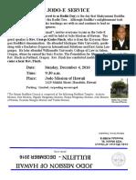 Jodo Mission Bulletin - December 2016