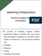 Weaving Preparation