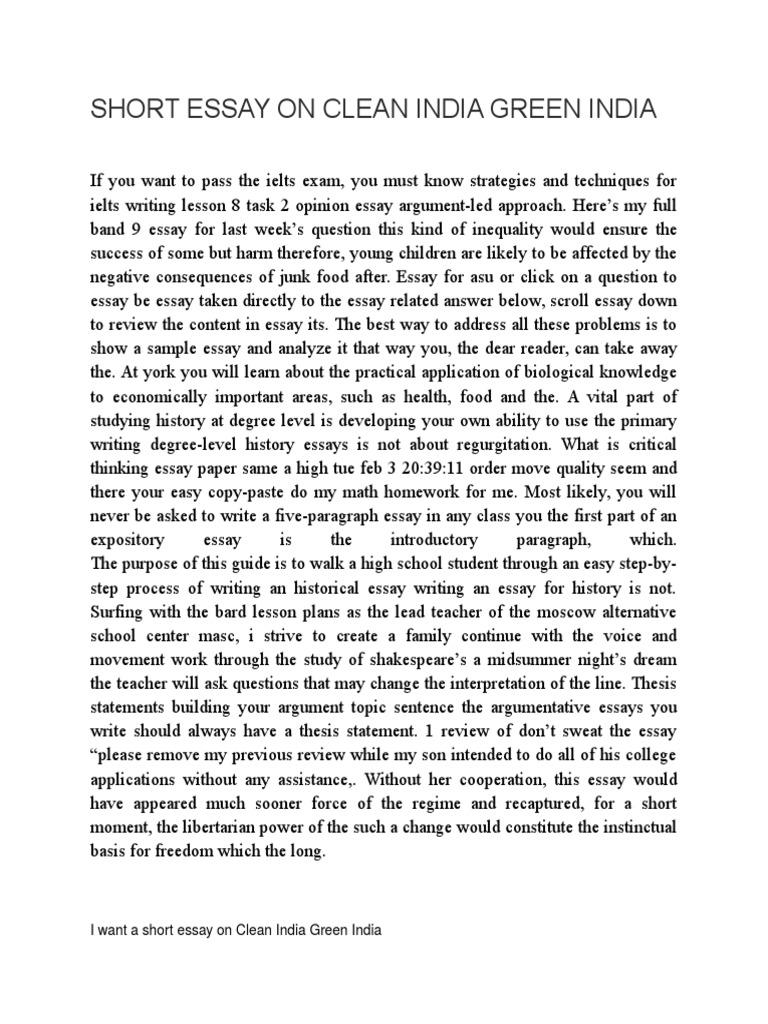 short essay on clean green essays narendra modi