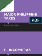 Major Philippine Taxes
