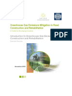 GHG-ExecSummary Greenhouse Gas Emissions Mitigation in Road Construction