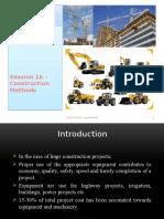 Session 1b - Construction Equipment