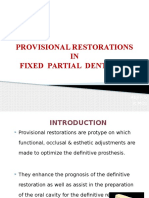 Provisional Restoration in Fpd