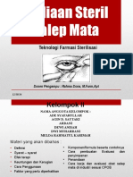 Sediaan Steril Salep Mata Ppt