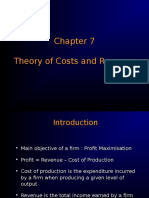 Theory of Cost & Revenue