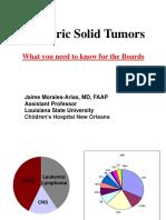 Pediatric Solid Tumors