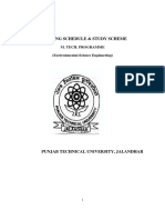PTU M.Tech Environment Syllabus