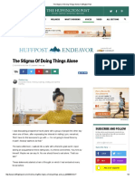 The Stigma of Doing Things Alone _ Huffington Post