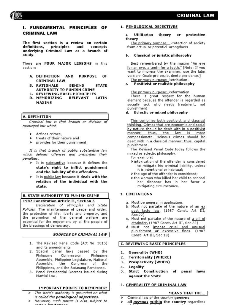criminal law reviewer 2008 up   intention (criminal law)   ex post