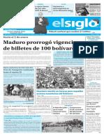 Edición Impresa El Siglo 18-12-2016