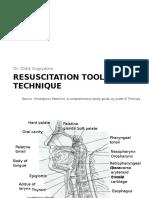 Resuscitation Tools and Technique