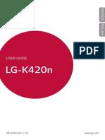 Manual Instruciones LG k10