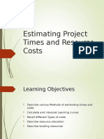 Qm Estimating Times Resources Cost Lc