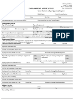 Employment Application Fill Able Word Form
