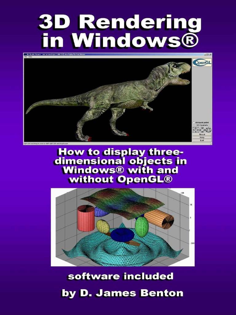 Sanet me 3D Rendering in Windows - D  James Benton