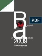 Rapport d'activité 2009 de Cap Sciences