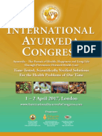 International Ayurveda Congress London 1-2 April 2017