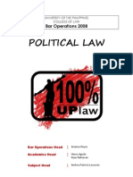 UP Political Law Reviewer 2008
