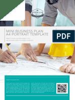 Mini Business Plan A4 Portrait Template