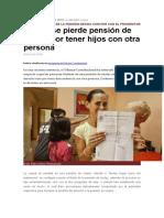 Tribunal Constitucional ha resuelto caso en donde no se Pierde Pensión de Viudez Por Tener Hijos Con Otra Persona