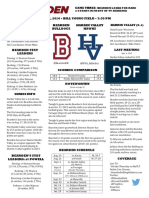 bearden hva football game notes