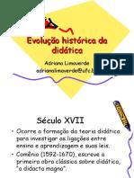 Evolução Histórica Da Didática