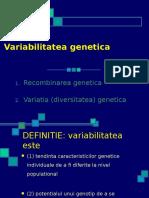 9 Variabilitatea genetica