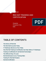 Red Hat Training Certification Sales Presentation