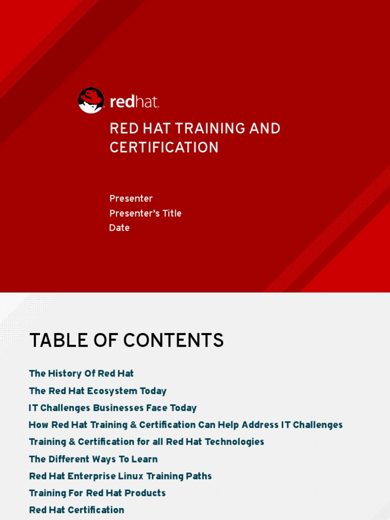 Red hat training certification sales presentation red hat open red hat training certification sales presentation red hat open stack xflitez Images