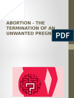 Abortion - The Termination of an Unwanted Pregnancy