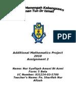 Additional Mathematics Project