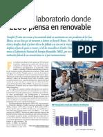 NREL, el Laboratorio donde EEUU piensa en renovable (Energías Renovables, diciembre-09, EEUU)