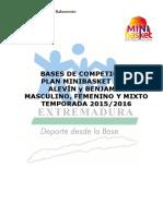 Bases de Competicion PLAN MINIBASKET 15-16