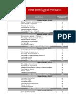 Matriz Curricular PSICOLOGIA